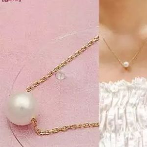 Simple Gold Filled Pearl Necklace